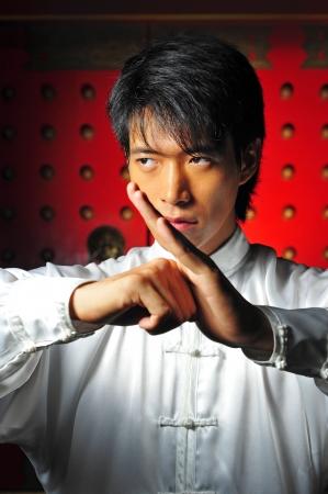 Young Asian Man Training Martial Arts Stock Photo - 5221466