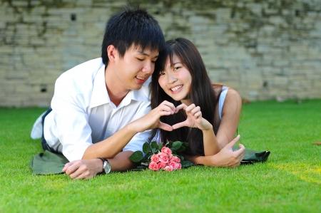 Couple In Love Having Fun In The Park