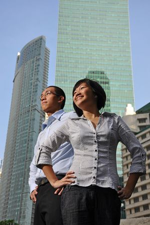 Smart Asian Couple Executives photo