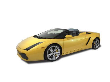 One yellow Lamborghini Sports Car Editorial