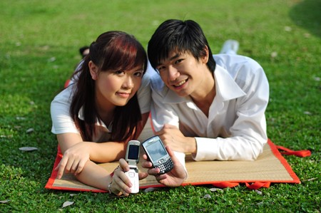 Young Asian Couple in Love  photo