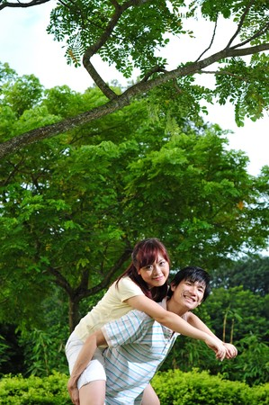 Young Asian Couple in Love  Stock Photo