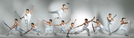 Kungfu Fighters in multiplicity Foto de archivo