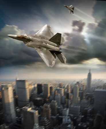 air force: jet fighter  Stock Photo