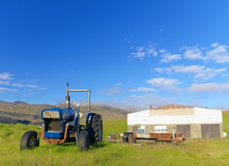 mid afternoon: Disused Tractor in an old farm house