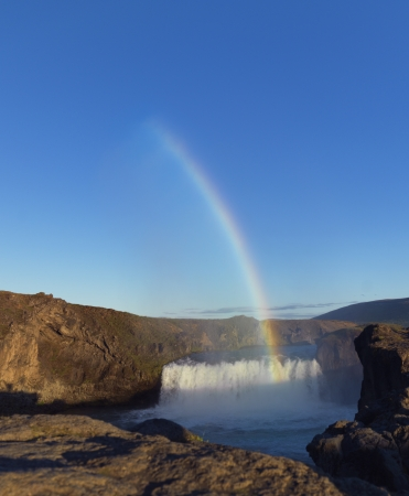 Picture of Rainbow across Waterfall  Picture that brightens and gives hope   photo