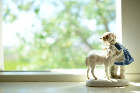 recluse: Ornament by the window  Stock Photo