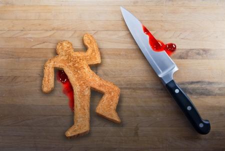 Murder of Bread Man Stock Photo
