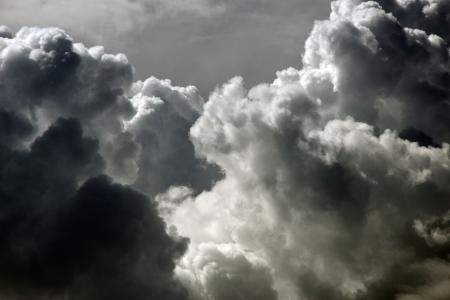 menacing: Clouds with menacing look Stock Photo
