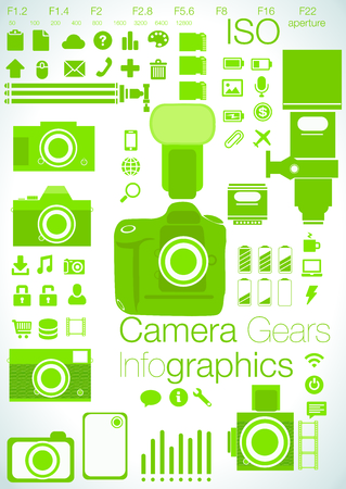 focused: Camera focused infographics