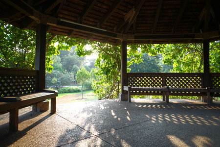 pavillion: Useful as background or describing park and nature