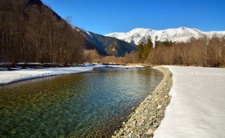 The sunny day in Caucasus mountains in winter Stock Photo - 17894284