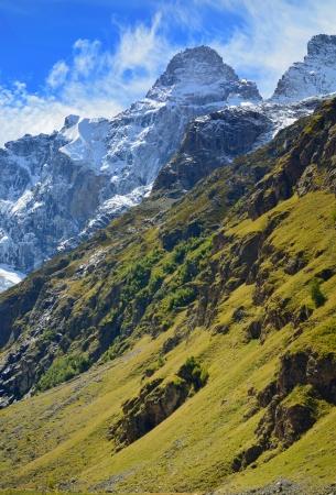This is peak Dallar in Caucasus mountains in autumn