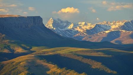 break in: This is colorful break in Caucasus mountains in summer