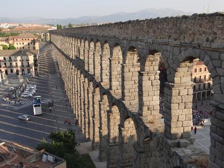 Aqueduct of Segovia, Spain Archivio Fotografico - 121660217