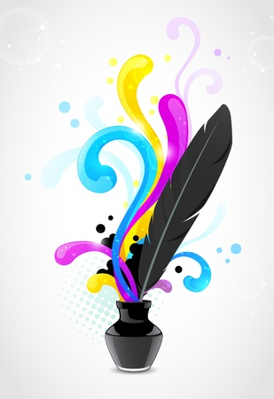 cmyk abstract: Abstract vector cmyk concept