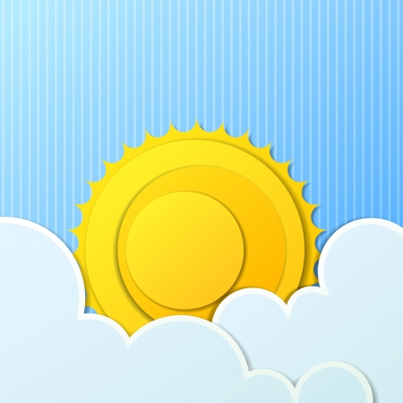 background with sun and clouds