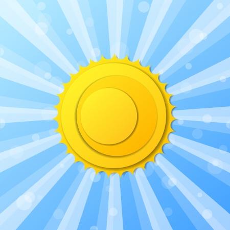 抽象的な太陽の背景  イラスト・ベクター素材