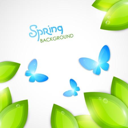 春の抽象的な背景  イラスト・ベクター素材