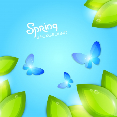 butterfly abstract: Spring abstract background Illustration