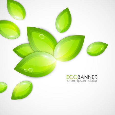 leaf shape: Eco background Illustration