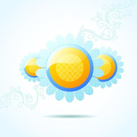 デイジーの泡の背景