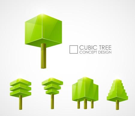 抽象的な木の概念設計  イラスト・ベクター素材