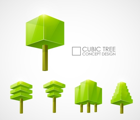 Abstract tree concept design Vector