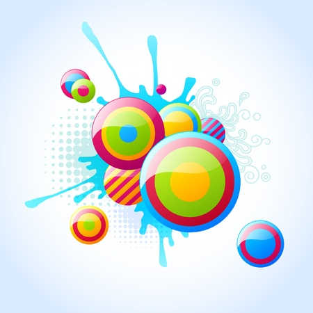 bubble background  Illustration