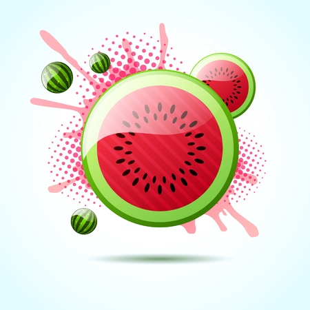 Watermelon bubble background