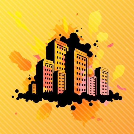 抽象的な都市図