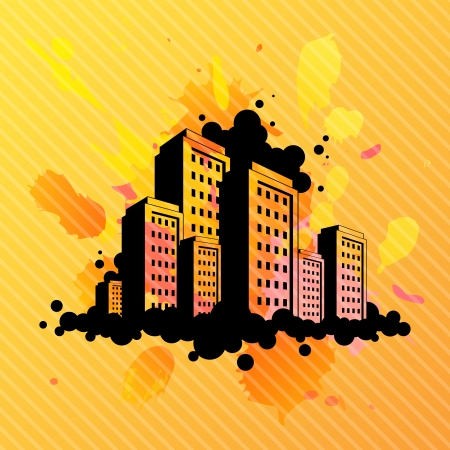 Abstract city illustration  Vector