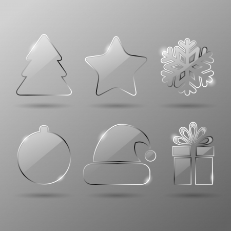 Glass christmas icons