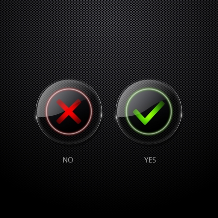 checkbox: Yes and no buttons
