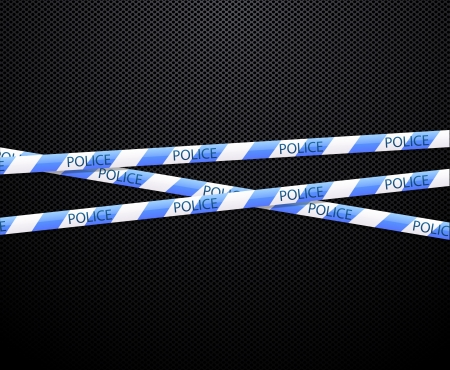 police tape on black background Vector