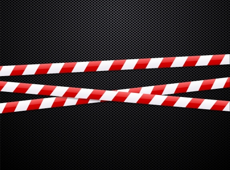Caution tape on black background  Vector