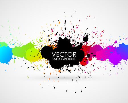 inkblot: Vector abstract background  Illustration