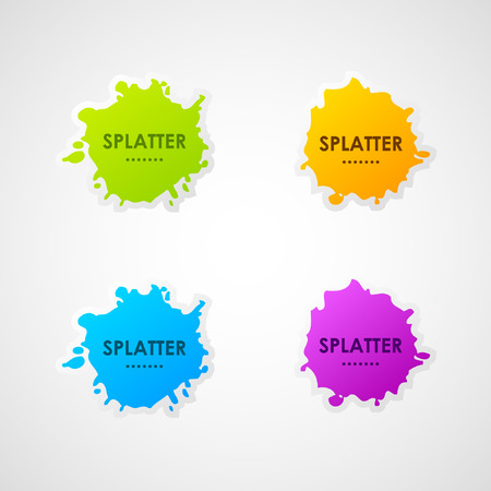 Vector splatter labels  Vector