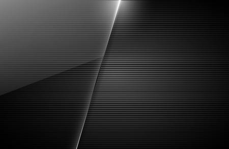 negro: tarjeta de visita del vector Vectores