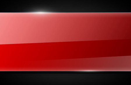 red stripe: vector glossy background