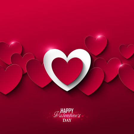 Bright Valentine`s day background Иллюстрация