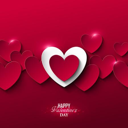 Bright Valentine`s day background Stock Illustratie