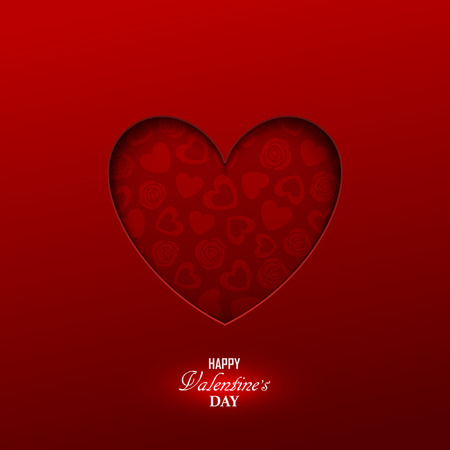 Bright Valentine`s day background Çizim