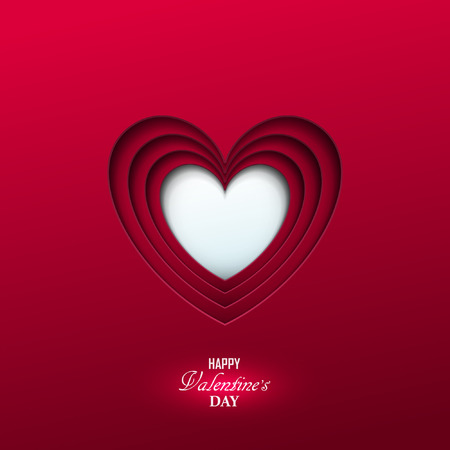 Bright Valentine`s day background Ilustrace