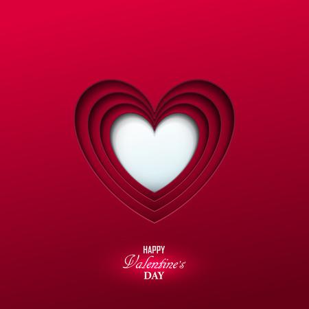 Bright Valentine`s day background Vectores