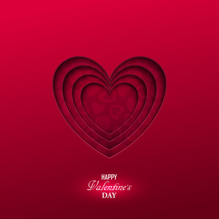 Bright Valentine`s day background Illustration