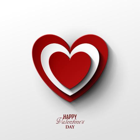 Bright Valentine`s day background Vettoriali