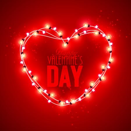 saint valentine: Valentine`s day background with bright lights