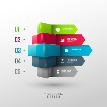 Vector infographic or web design template Vector