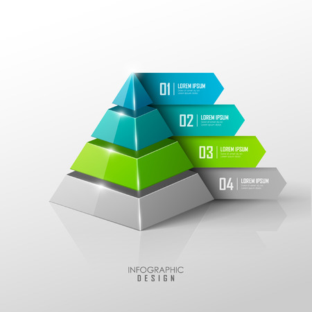 color chart: Vector infographic or web design template